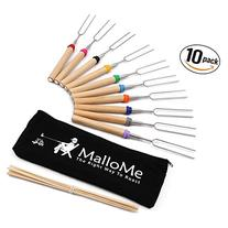 MalloMe Marshmallow Roasting Sticks Set of 10 Telescoping