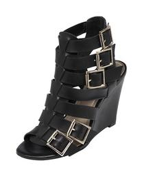 Vince Camuto Martez Leather Gladiator Wedge Sandals