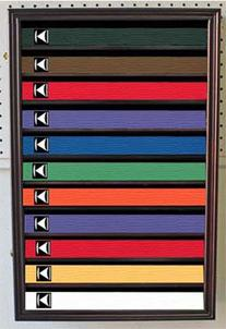 Martial Art/Karate/Taekwondo Belt Display Case Rack Wall