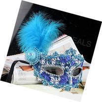 Enjoydeal Mask with Feather and Crystal Drills for