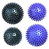 Massage Ball Set - Set of Four, With Varying Densities and Sizes, For Yoga / Trigger Point Self Myofascial Release / Muscle Tension Relief