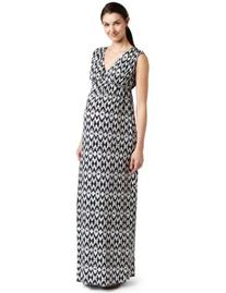 Everly Grey Women's Maternity Jill Maxi Dress In Batik Print