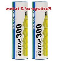 Yonex Mavis 300 Yellow Nylon Shuttlecocks 1/2doz -Yellow