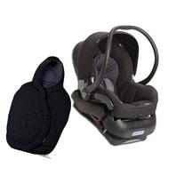 Maxi-Cosi Mico Infant Car Seat with Footmuff- Total Black