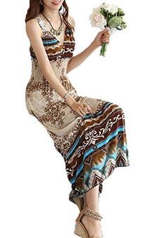 Maxi Evening Party Dress Sexy Women Summer Boho V-Neck Long