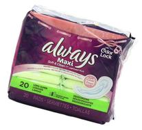 Always Maxi Leakguard Plus Odor-Lock Long Super Without