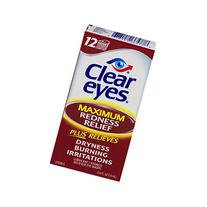 Clear Eyes Maximum Strength Redness Relief, 0 5 Fluid