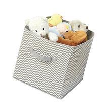 mDesign Chevron Fabric Baby Nursery Closet Organizer Cube