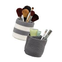 mDesign Knit Cosmetic Storage Organizer Bin for Makeup