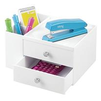 mDesign Office Supplies Desk Organizer for Staplers,