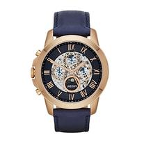 Fossil Men's ME3029 Grant Automatic Watch With Blue Leather