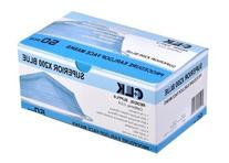 Earloop Procedure Face Masks, BLUE, Box of 50, 3 ply,    by