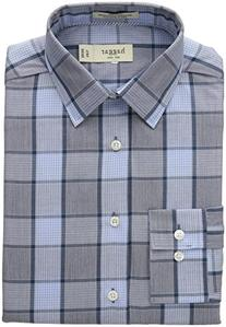 Haggar Men's Mechanical Stretch Medium Glen Plaid Fancy