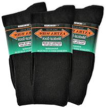 Extra Wide Medical Socks Mens, Shoe Sizes 11-16 Up To 6E,