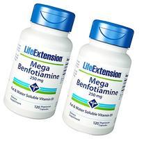 Life Extension Mega Benfotiamine 250 mg, 120 vegetarian