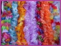 Mega Silk Lei Assortment  for Tropical Hawaiian Luau Party