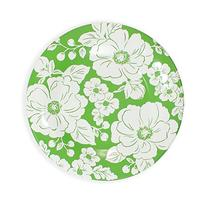 222 Fifth 6.5-inch Megan Floral Saucers, Green
