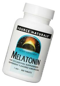 Source Naturals Melatonin  1mg, Peppermint, for Occasional