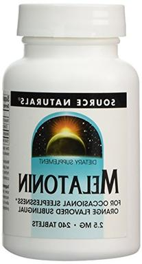 Source Naturals Sublingual Melatonin Orange -- 2.5 mg - 240
