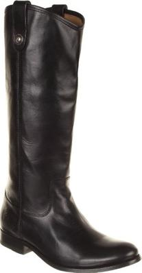 FRYE Women's Melissa Button Boot, Black Wide Calf Smooth