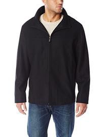 Perry Ellis Men's Big Melton Wool Jacket, Black, 3X