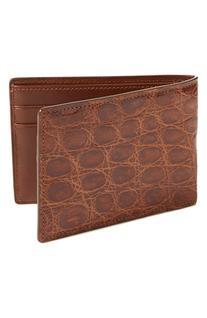 Men's Boconi Crocodile Slimfold Wallet