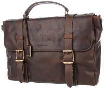 FRYE Men's Logan Antique Pull Up Flap Briefcase, Black, One