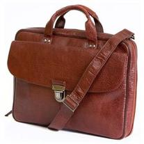 Men's Boconi 'Mathews' Leather Commuter Bag - Brown