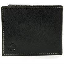 Timberland Men's Passcase Wallet Pebble Grain Leather Flip