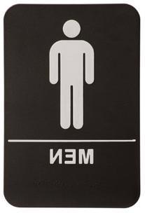 Men Restroom Sign Black/White - ADA