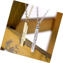 Men's Vertical Bar Custom Necklace- Handstamped or Engraving