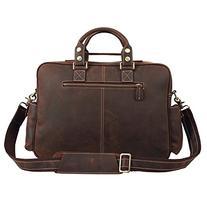 Polare Men's Vintage Full Grain Leather Messenger Bag