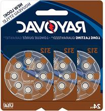 Rayovac Mercury Free Hearing Aid Batteries, Size 312, 24-