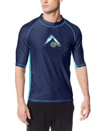 Kanu Surf Men's Mercury Upf 50+ Rashguard, Navy, X-Large