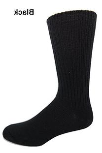 96% Merino Wool Non-binding Casual Socks  in Black 8-12