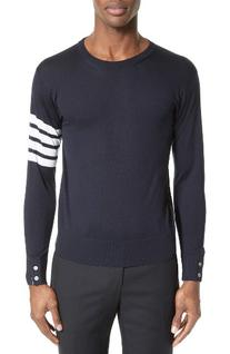 Men's Thom Browne Merino Wool Pullover, Size 3 - Blue