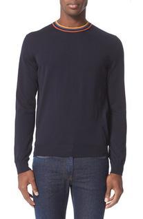 Men's Paul Smith Merino Wool Pullover, Size Small - Blue