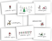 Merry Christmas Greeting Cards Collection - 24 Cards &