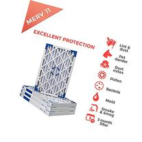 20x24x4 MERV 11 Air Filters for AC and Furnace. Qty 1