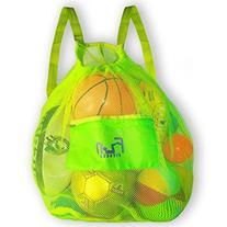 MESH BAG - Drawstring Backpack Perfect for Beach, Swim, Pool