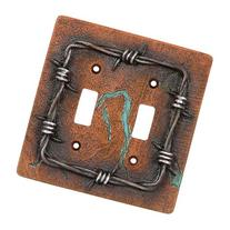 Mesquite and Turquoise Double Switch Plate