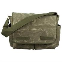 Messenger Bag - Stone Washed Canvas Classic Style, Olive