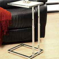 Monarch Specialties I 3012, Accent Table Adjustable, Chrome