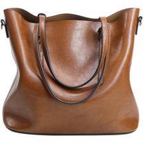 Metal Buckles PU Leather Shoulder Bag