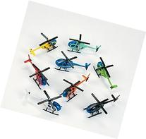 Metal Die cast Helicopters - Assorted colors - 12pcs