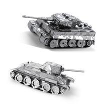 Metal Earth 3D Laser Cut Models - Tiger I Tank AND T-34