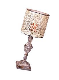 YK Decor Metal Vintage Table Candle Holder Candle Lamp,