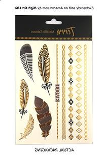 Premium Metallic Tattoos - 75+ Shimmer Designs in Gold,
