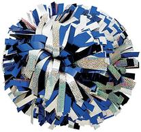 Metallic/Holog Mix Pom Royal/Silver