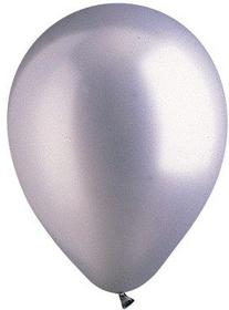 "Silver Latex 12"" Balloons - 100 Per Unit"